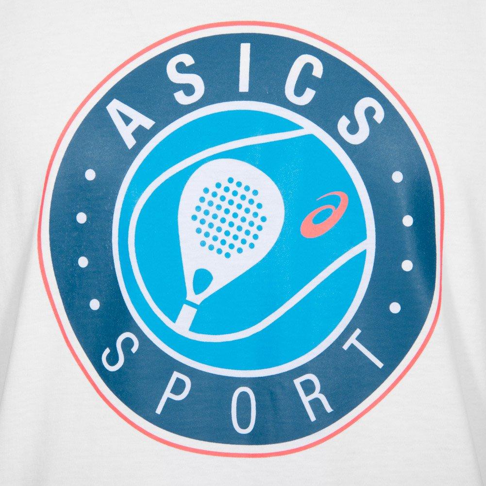 ASICS Camiseta Padel SS Graphic Top Blanca: Amazon.es: Deportes y ...
