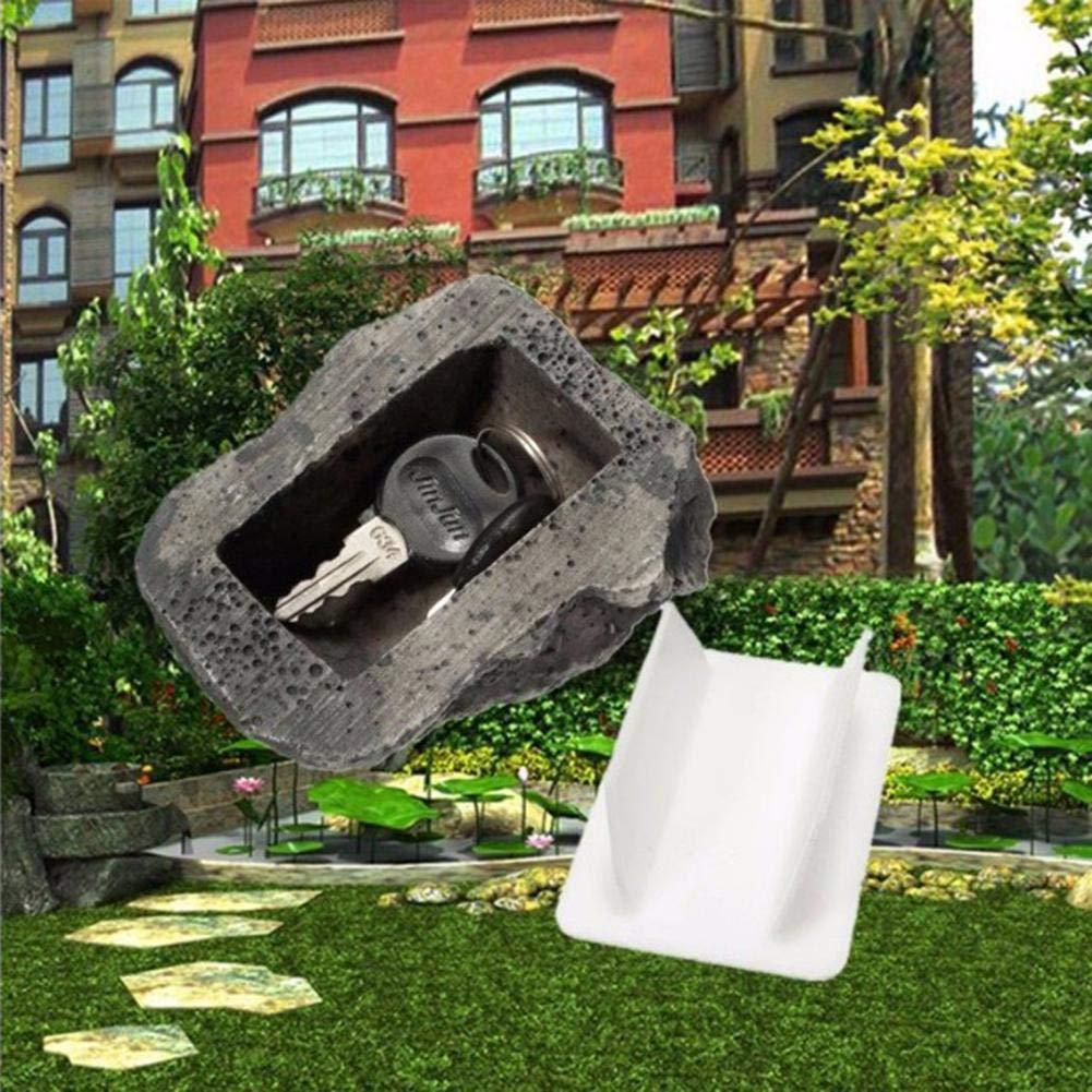 Safe-Looks f/ühlt Sich an wie echtes Stein-Safe f/ür Garten-Garten-Geocaching KEIBODETRD Fake Rock mit verdecktem Ersatzschl/üssel