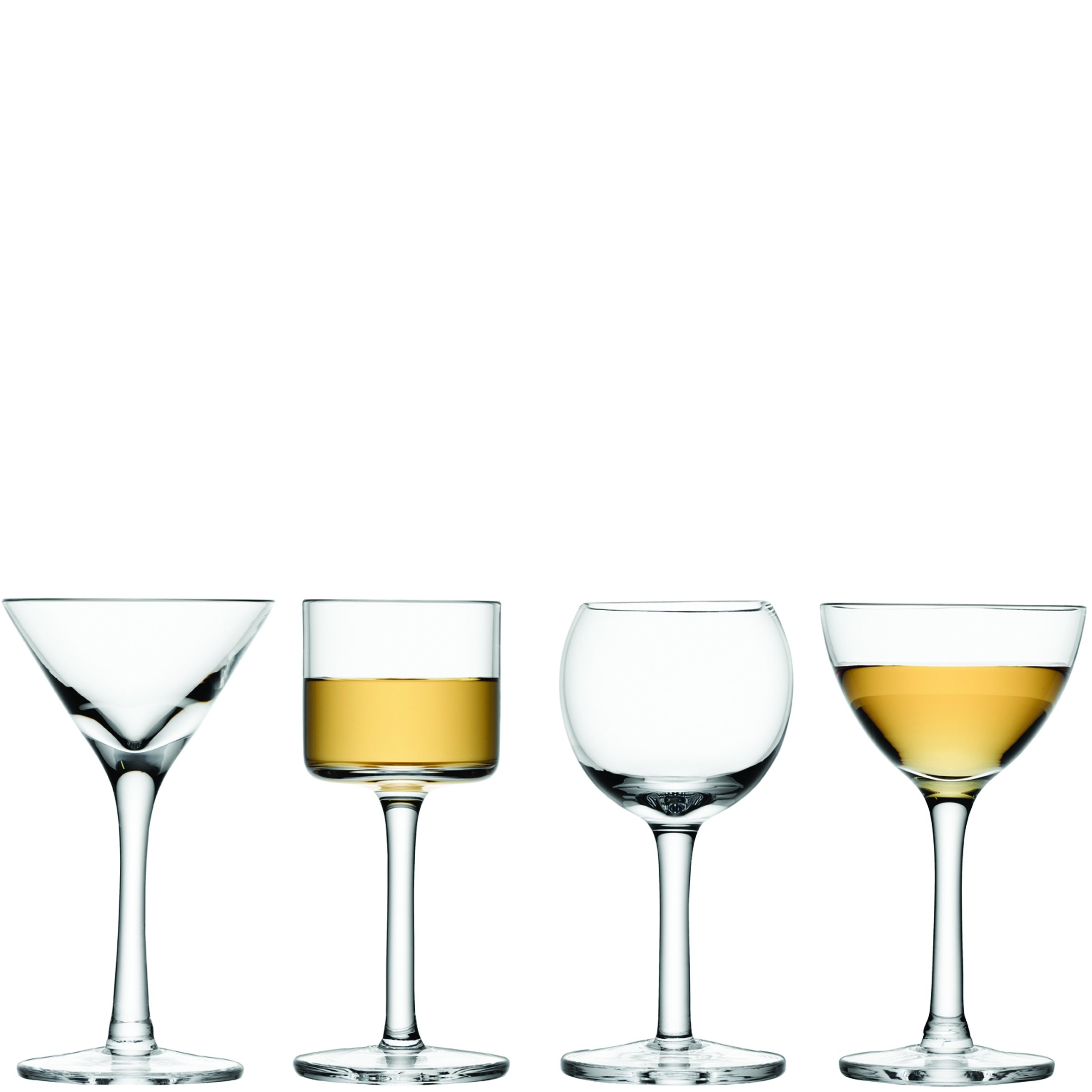 LSA International Assorted Lulu Liqueur Glass (4 Pack), 1.7 - 1.8 fl. oz., Clear by LSA International