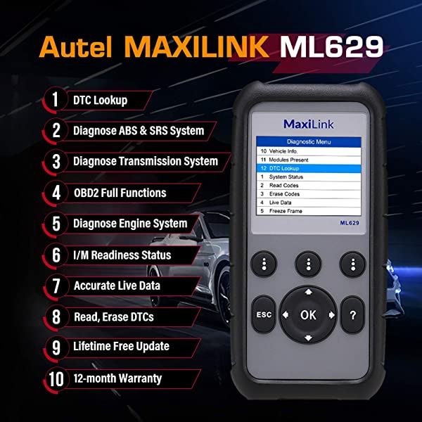 Autel MaxiLink ML629 is the Mercedes Diagnostic Tool for users who know about cars