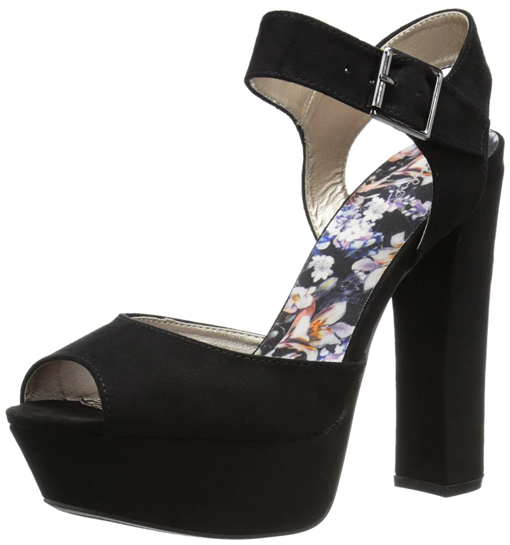 e56d908d6bcea Qupid Women's Beat Platform Sandal