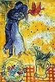 Les Amoureux aux Marguerites by Marc Chagall Poster Print, 24x36 Fine Art Poster Print by Marc Chagall, 24x36