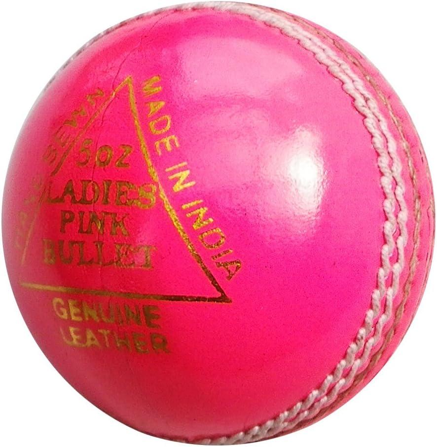 6 x Upfront Ladies PINK BULLET 5oz Leather Match Cricket ball Opttiuuq BULK BUY