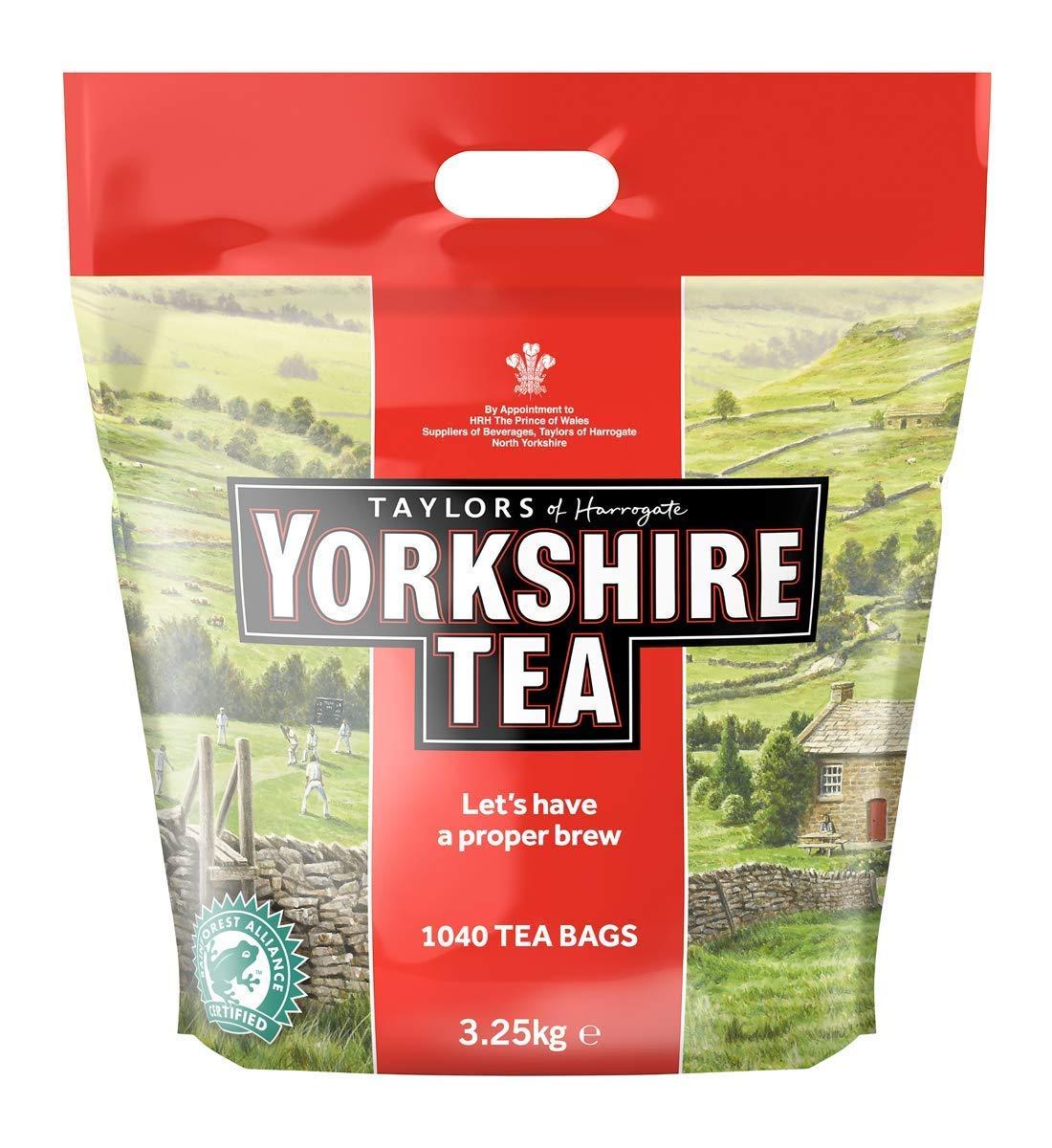 Yorkshire Tea Taylors Of Harrogate 1200 Tea Bags 3Kg X Case Of 2