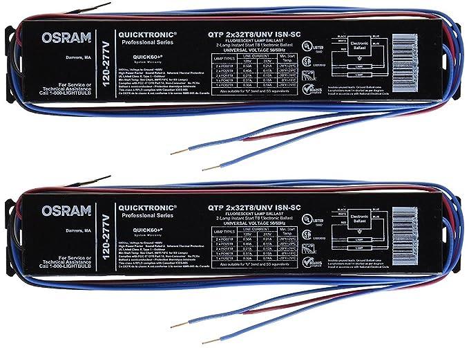 Sylvania 49906 Qtp2x32t8unvisnscb T8 Fluorescent Ballast Electrical Ballasts Amazon: Osram Ballast Wiring Diagram 120 Volt At Goccuoi.net
