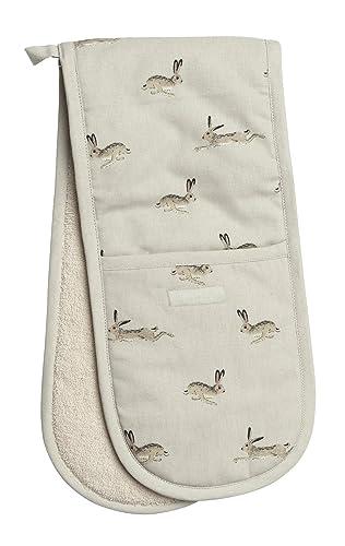 Sophie Allport Double Oven Glove - Hare design