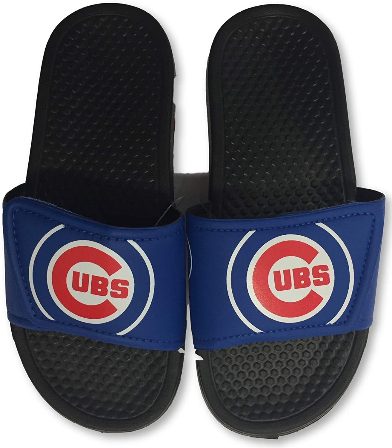 FOCO Chicago Cubs Youth Slide Sandals