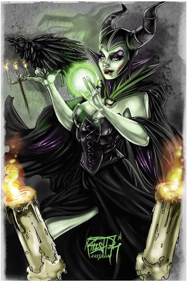 Maleficent by Kris Chisholm Sleeping Beauty Evil Queen Art Print for Framing