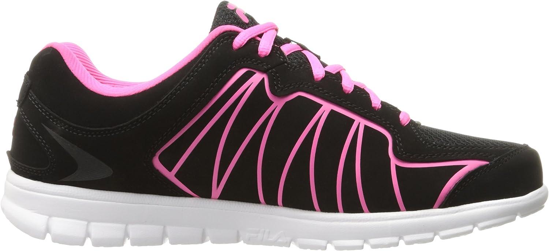 Fila Women's Escalight Running Shoe Black/Knockout Pink/White