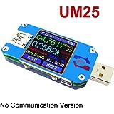 MakerHawk UM25 USB Meter Tester Multimeter Color LCD Display, Voltage Current Meter Voltmeter Ammeter Battery Charge, USB 2.0 Type- C, Measure Cable Resistance Load Impedance, DIY Background Settings