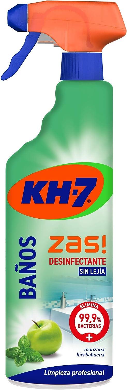 KH-7 Limpiador Baños y Desinfectante - Desinfección sin lejía - Aroma a manzana y hierbabuena - 750 ml
