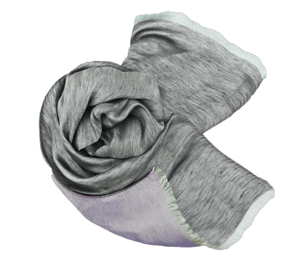 Stanley Lewis La Mer Men's Scarf (Charcoal & Lilac) by Stanley
