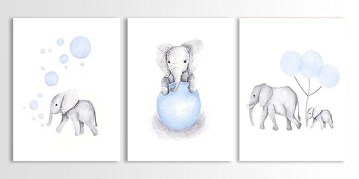 amazon elephant nursery decor elephant wall art baby boy art