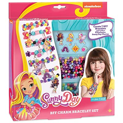 Make It Real - Sunny Day BFF Charm Bracelet Set. DIY Beaded Charm Bracelet and Friendship Bracelet Making Kit for Girls Inspired by Nickelodeon's Sunny Day: Toys & Games