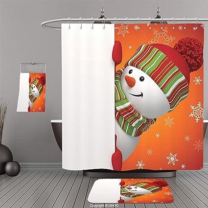 uhoo trajes de baño   ducha cortinas Piso Esteras y tina towelscamo  camuflaje patrones en cuatro 7a8e3023ee76