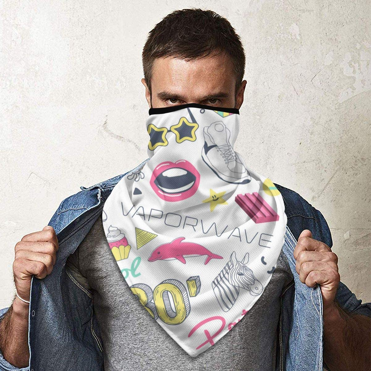 Wind-Resistant Face Mask/& Neck Gaiter,Balaclava Ski Masks,Breathable Tactical Hood,Windproof Face Warmer for Running,Motorcycling,Hiking-Fashion Hand Drawn Doodle with Skateboard