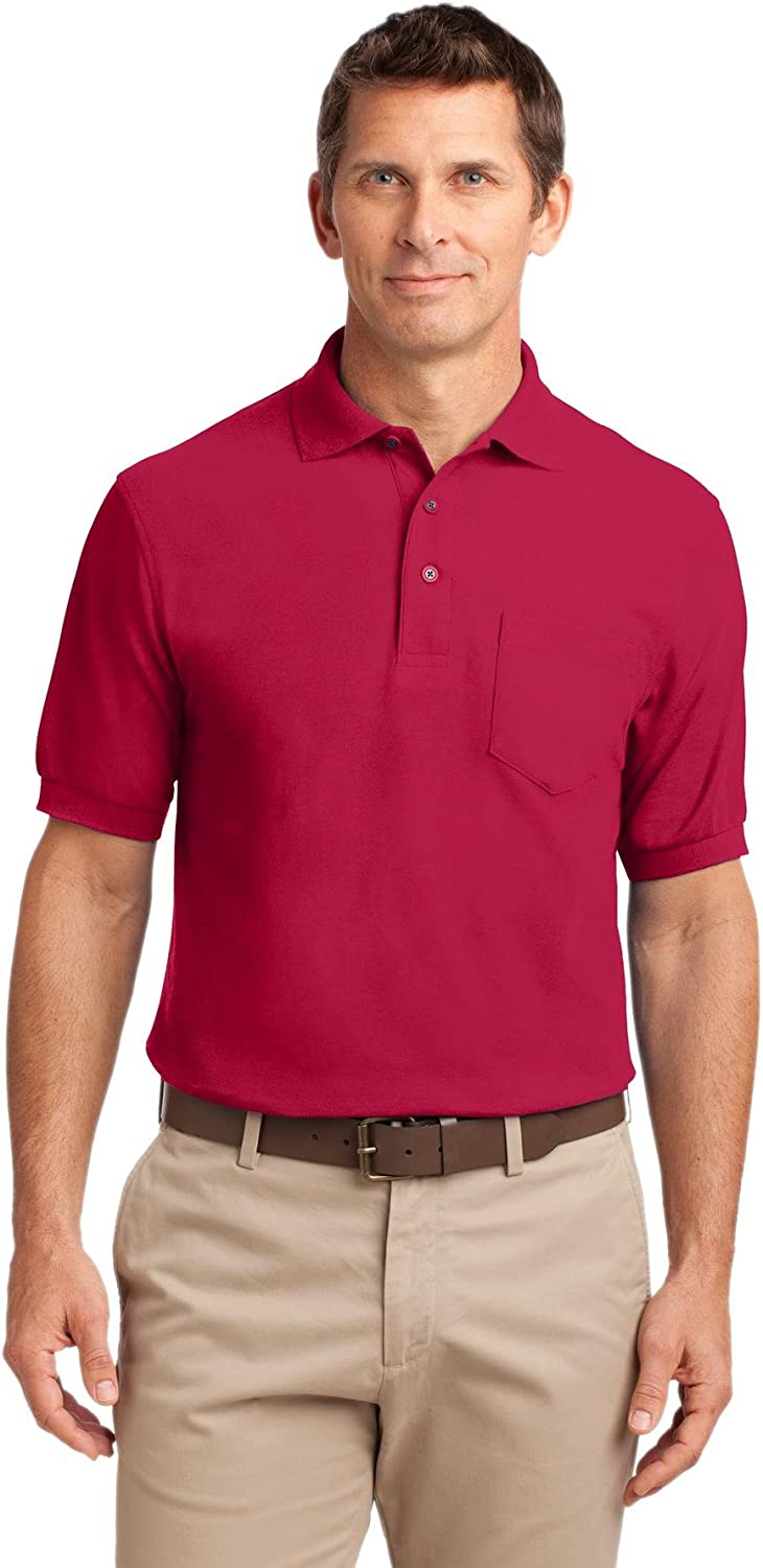 TLK500P Port Authority Tall Silk Touch Polo with Pocket