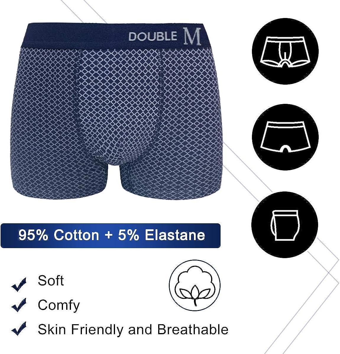 L R/ésistant Boxers en Coton Slip sans /Étiquette Pack 3 XL Pack 6 Pack 6 avec 6 Chaussettes Doux Tailles S Basique Ceinture /Élastique Ajust/ée M DOUBLE M pour Homme