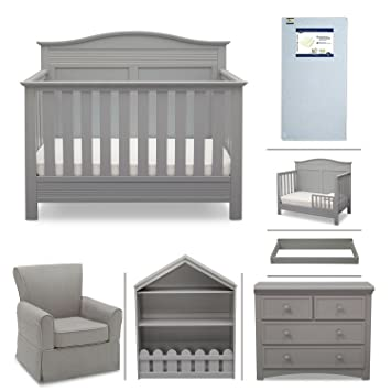 grey furniture nursery. Serta Barrett 7-Piece Nursery Furniture Set With FREE Digital Baby Monitor (ships Separately Grey