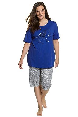 72371a0b18 Ulla Popken Damen große Größen bis 60 | Pyjama Zweiteiler | Schlafanzug mit  T-Shirt