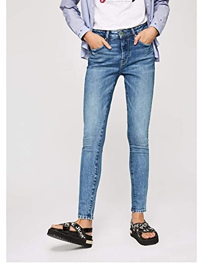 suche nach echtem geringster Preis Fabrik authentisch Pepe Jeans Regent Skinny Fit High Waist Jeans for Women Blue ...