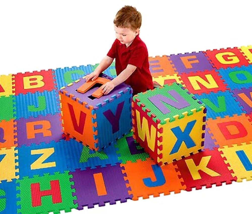 Soft Baby Children Play Mat Gym Foam Alphabet 26 Piece Each Tile 31.5 cm x 31.5 cm / 1cm Thick with Pattern Textured Surface (Superior Quality)