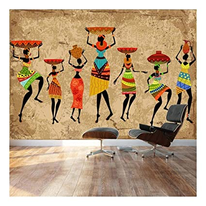 Wall26 Large Wall Mural Abstract Art African Woman On Grunge Background Self