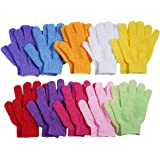 10 Pairs Exfoliating Bath Gloves,Made of 100% NYLON,10 Colors Double Sided Exfoliating Gloves for Beauty Spa Massage Skin Sho