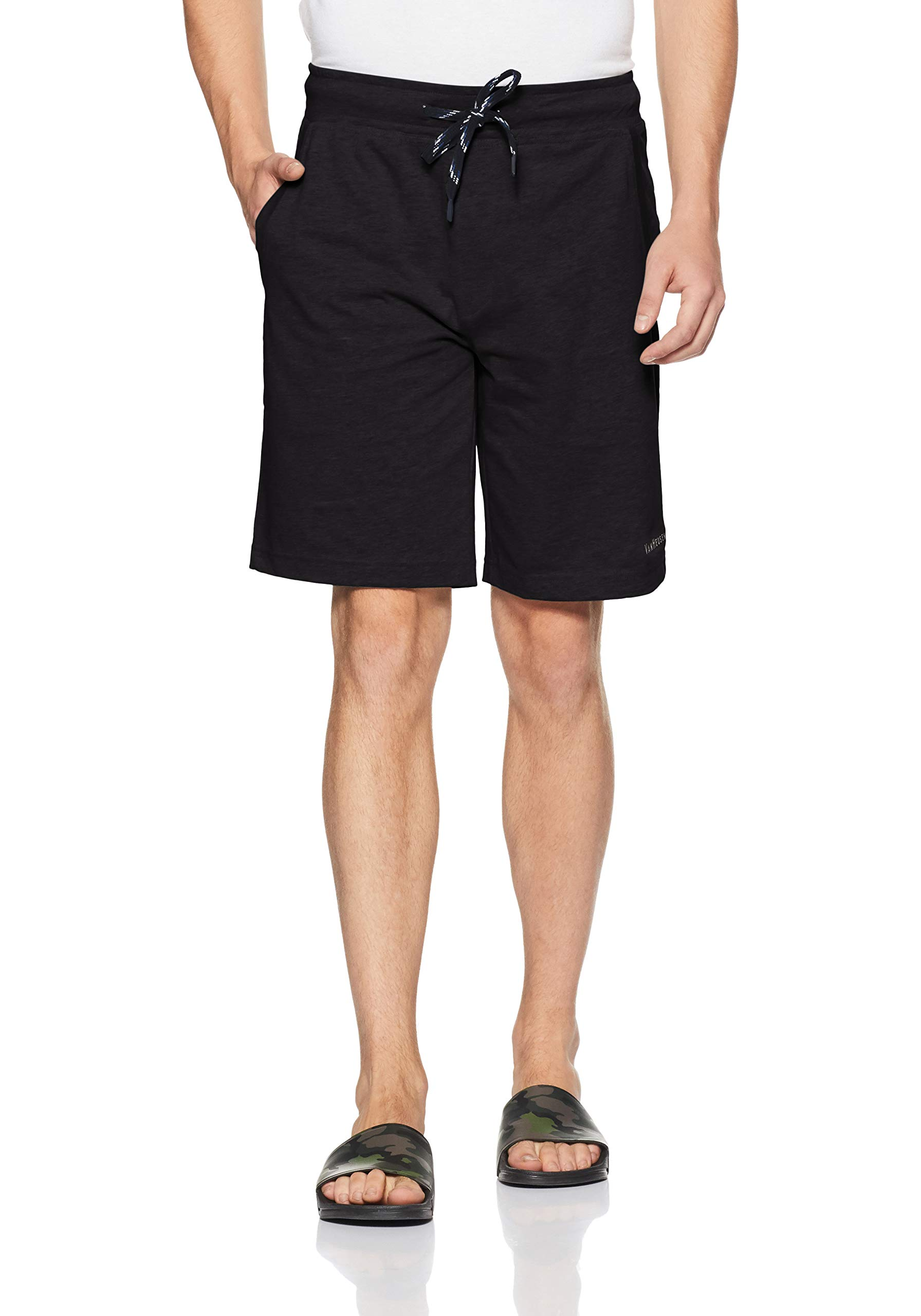 Van Heusen Athleisure Men's Cotton Rich Lounge Shorts(Colors & Print May Vary) product image