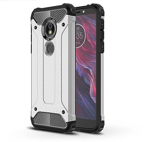 SPAK Motorola Moto E5,Moto G6 Play Funda,Silicona Gel TPU Interna y PC Cubierta Diseño de la Armadura Híbrida de Carcasa para Motorola Moto E5,Moto G6 ...