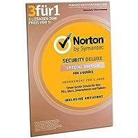 Norton Security Deluxe 2019 | Schutz für 3 Geräte | 1 Jahr | PC/MAC/Android | FFP| Download