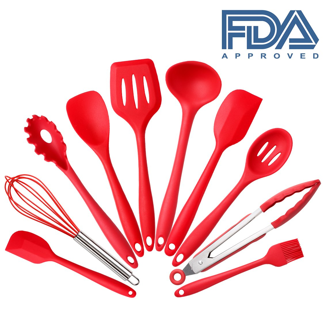10-piece Silicone Kitchen Cooking Utensils