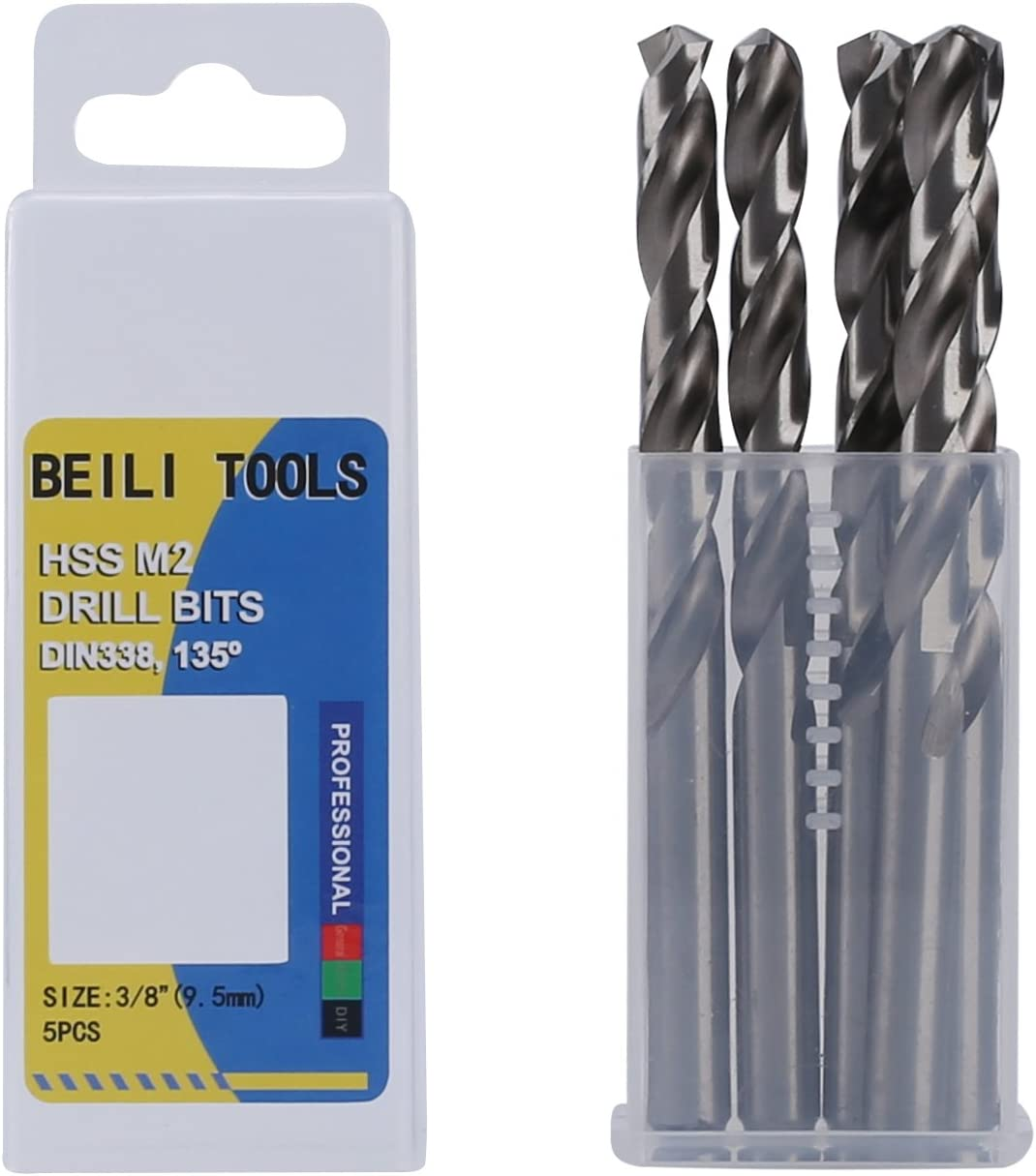 HSSG PRECISE M2 ALLOYED HSS JOBBER DRILL BITS FULLY GROUND-SOLID MATERIAL 5-13MM