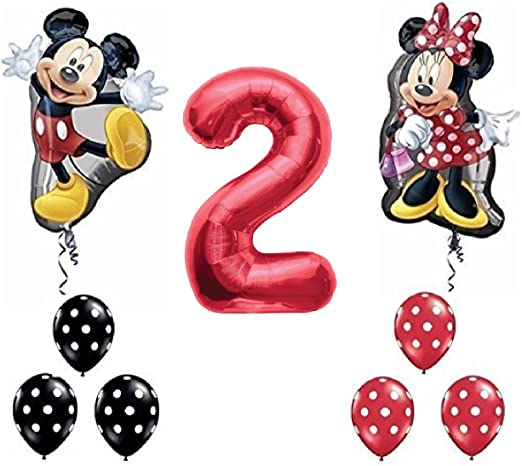 Amazon.com: Rojo Número 2 de Mickey y Minnie Mouse Full Body ...