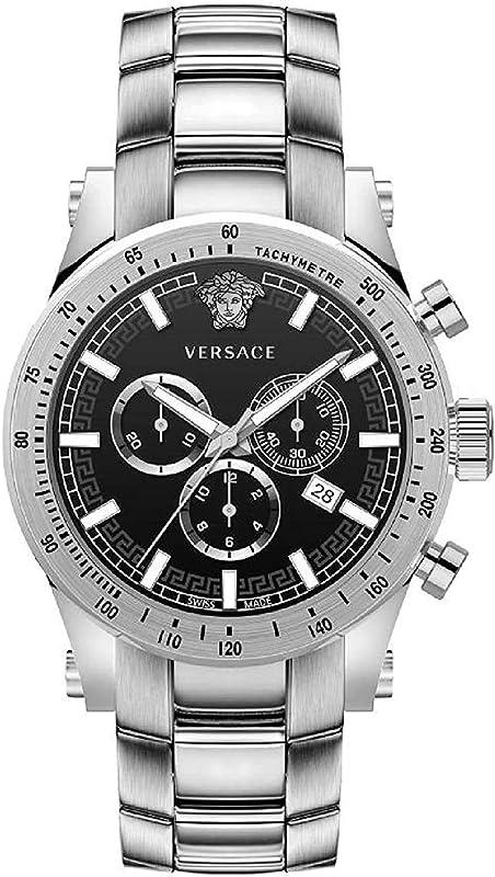 orologio versace vev800419 sporty heren horloge chronograaf 44 mm