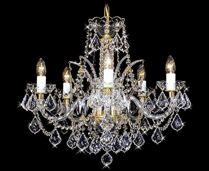 Lustre en cristal Swarovski.: Amazon.fr: Luminaires et Eclairage