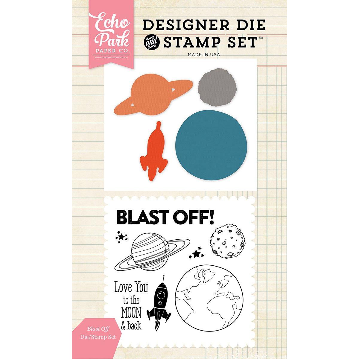Echo Park Paper Company EPDIE//STAMP56 Blast Off Die//Stamp Set