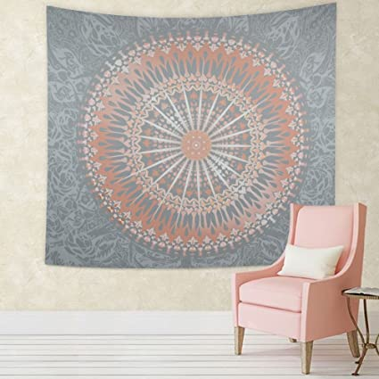Mandala Tapestry Wall Hanging Rose Gold Hippie Psychedelic Cool Art Decor Traditional Indian Tapestries