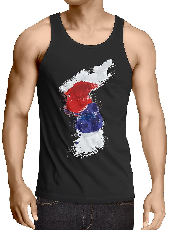CottonCloud Flagge Korea Herren Tank Top Fu/ßball Sport Hangug WM EM Fahne