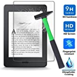 Kindle Paperwhite / Kindle 8 Generation Screen protector, Infiland Premium HD clear Tempered Glass Screen Protector for Amazon Kindle (8.Generation - 2016 Model) 6 Inch eReader/Kindle Paperwhite 2012, 2013, 2014, 2015(Tempered Glass)