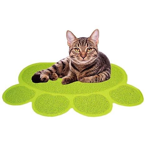 Care Joy gato perro mascota entrenamiento cojines forma de huellas feeding Estera mascotas PVC cama Deslizar