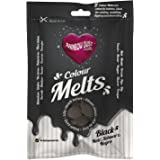Rainbow Dust Black Colour Melts Decorating Cake Melting Candy Chocolate Buttons