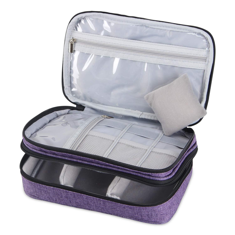 Luxja borsa accessori cucito, borsa per cucito, organizzatore cucito, borse cucito per cucire come aghi Forbici Filati (non inclusi gli accessori)