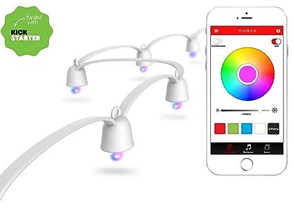 Led Weihnachtsbeleuchtung Baum.Mipow Playbulb String Led Lichterkette Weihnachtsbeleuchtung Baum Lichterkette Bunt App Gesteuert Smart Home 40 Leds Bunt 10m Basis Set Weiß