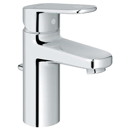 GROHE 33170002 Europlus S Size 1 Handle 1 Hole Bathroom Faucet, Starlight  Chrome