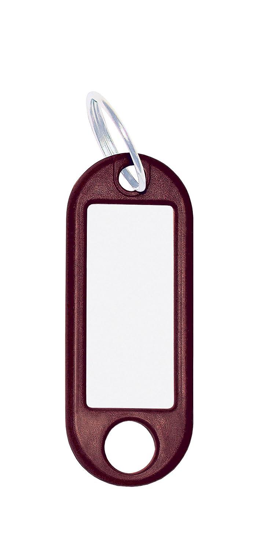 Wedo 262801801 Llavero con anillo de plástico, etiquetas intercambiables, 100 piezas, negro