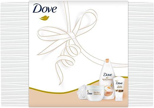 Dove Coffret cuidado Cocooning Gel de ducha 400 ml + Crema Karité 300 ML + Crema Karité 75 ml + flor de ducha: Amazon.es: Belleza