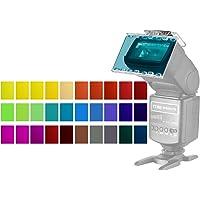 Neewer 30-Pieza Kit de Filtro de Gel de Color Cámara Flash Speedlite - Hojas de Plástico Película Correctiva de Color…