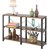 Homfa Rustic Console Sofa Table, 47'' Industrial Entryway Side Table with 3-Tier Open Storage Shelf Multipurpose TV…