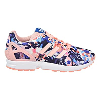 official photos 1587b b2452 adidas ZX Flux J Big Kids Graphic Sneakers Haze Coral/Haze Coral/White  bb2879